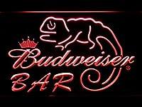 Budweiser Lizard Bar LED看板 ネオンサイン ライト 電飾 広告用標識 W60cm x H40cm レッド