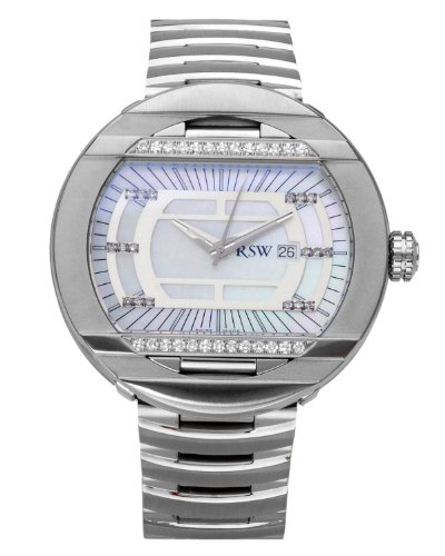 2bad4fe0f234 Rama Swiss Watch Stainless Steel 0.47 CTW Color F G SI1 SI2 Diamond and  Crystal Men s Watch