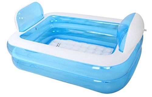 Folding tub Home Mall- Baignoire Gonflable Tubble Taille Adulte Portable Home Spa, Piscine d'éducation précoce bébé, Baignoire Confortable, Baignoire de qualité (Couleur : Bleu)