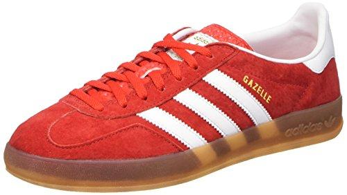 adidas Gazelle Indoor, Sandalias con Plataforma para Hombre, Multicolore (Red/Cwhite/Metold), 46 EU