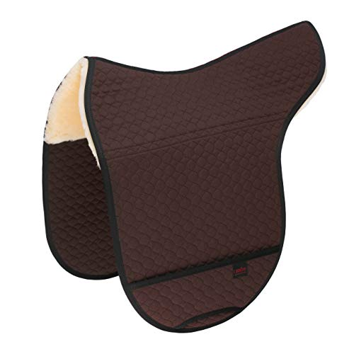 CHRIST Lammfell Satteldecke für Fellsattel Basic Plus und Premium Plus anatomische Sattelunterlage aus echtem medizinischem Fell, erhältlich in braun, Größe: Pony