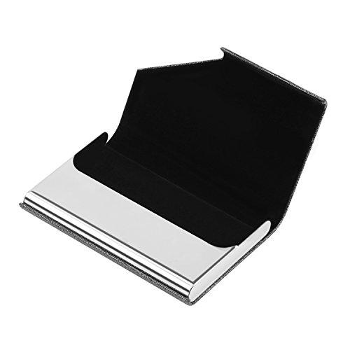 DMFLY Business Card Holder, Business Card Case, Business Card Holder for Women and Men, Business Card Holder for Purse, Business Card Case Women, Magnetic Shut (Gray) Photo #2
