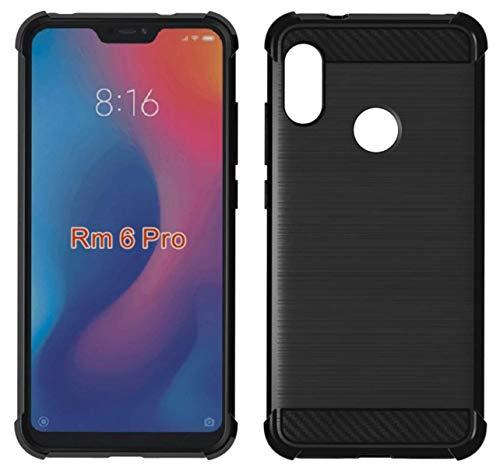 Tumundosmartphone Funda Gel TPU Anti-Shock Carbon Negra para Xiaomi Redmi 6 Pro/Mi A2 Lite