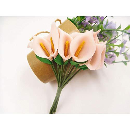 RZHZK Artificial Flower 144Pcs/Artificial Foam Horseshoe Lotus Flower Bouquet Wedding Household Garlands Gift Box Collage Decoration Simulation Flower