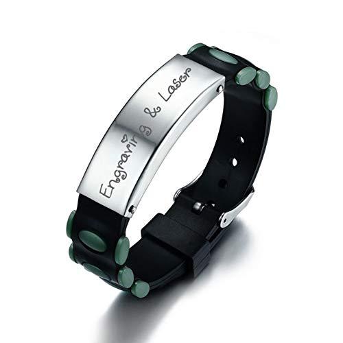 DMUEZW Pin gesp armband voor mannen siliconen horlogeband Bangle sieraden