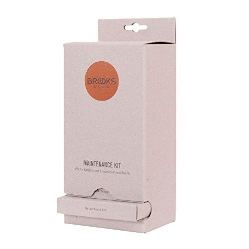 Brooks Maintenance Service Kit für Leder Sättel Pflegeset 25g Sattelfett, Spannschlüssel, Tuch, BMK 001