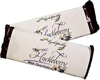 Wild Huckleberry Milk Chocolate Candy Bar 4.75 oz (2 Pack)