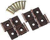 2 unids 45x42mm 180 grados de rotación muebles bisagras gabinete cajón caja de joyería puerta puerta decorativa bisagras muebles hardware