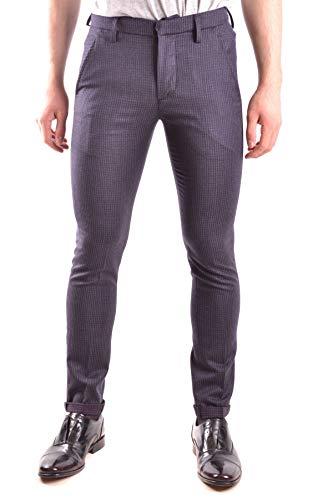 DONDUP Pantaloni Uomo Mcbi29028 Lana Blu
