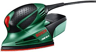 Bosch PSM 80 A - Multilijadora, 3 hojas de lija RedWood, con maletín (80 W, nº carreras en vacío: 20.000 min-1, Ø circuito...