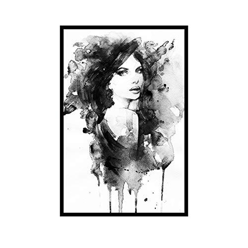 Moderne nordische minimalistische Schwarzweiss-Kunst-Leinwanddrucke und -plakate für Hauptdekoration 60X90cm