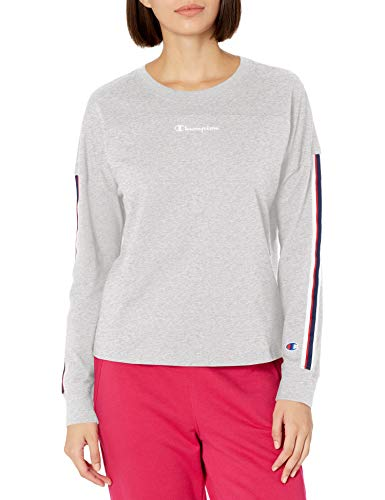 Champion Campus Camiseta, Color Gris Oxford, XL para Mujer