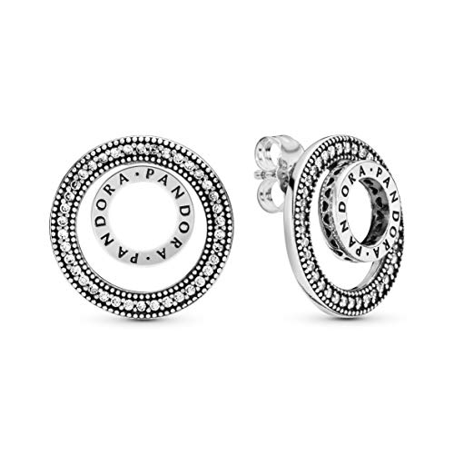 Pandora Jewelry Forever Pandora Signature Cubic Zirconia Earrings in Sterling Silver