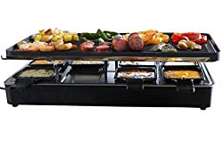 Best Choice for Best Raclette Grill: Milliard 8-Paddle Raclette Grill with Granite Cooking Stone