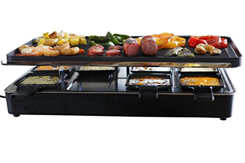Milliard Raclette Grill for Eight People, Includes Granite...