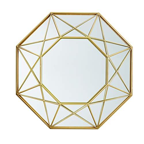 Espelho Dourado Em Metal Mart Preto
