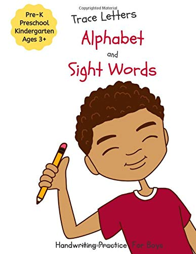 Trace Letters Alphabet and Sight Words Handwriting Practice for Boys: Handwriting Printing Practice Workbook (Mosaic Mix Learning Series)