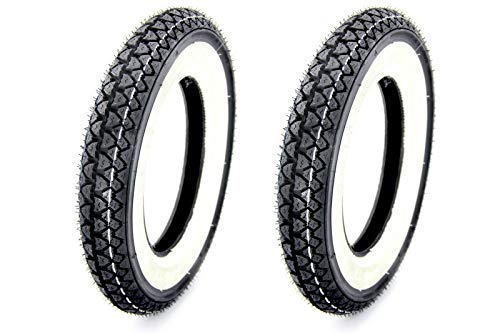 2x Kenda Weißwand Reifen 3,00 x 10 Zoll K333 4PR 42J TT für Roller