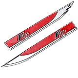 ずっと咲く花 2 unids/Set aleación de Zinc Nueva FR Emblema Side Pegatina Pegatina Insignia para Seat Leon FR Ibiza Altea Exeo Fórmula Racing Accesorios (Colore : Silver Red)