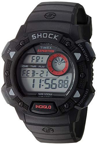 Timex Expedition - Reloj de cuarzo para Hombre con correa de resina, color Negro T49977