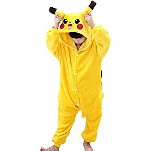 Runhai Pikachu Children Jumpsuit Unisex Kids Onesie Anime Christmas Halloween Carnival Cosplay Kigurumi Outfit Costume Onesies Pajamas Romper Clothing Piece Suits