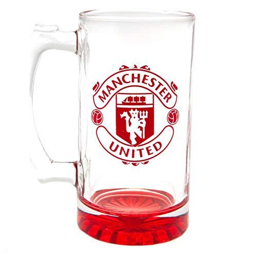 Man Utd Crest Stein Pint Glass One Size
