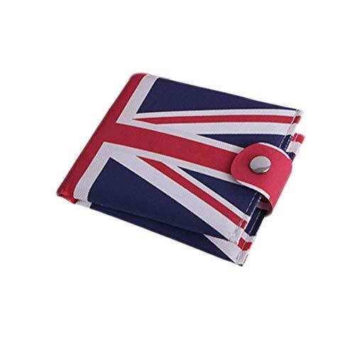 Amosfun Britische Flagge Brieftasche Münztüte Leinwand Geldbörse Mini Ladung Tasche für Mädchen Frauen Herren