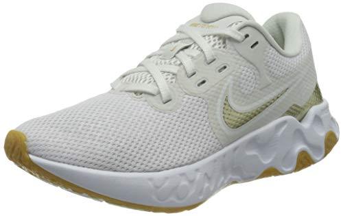 Nike Wmns Renew Ride 2, Zapatillas para Correr Mujer, Platinum Tint Mtlc Gold Star White Gum Lt Brown, 40 EU