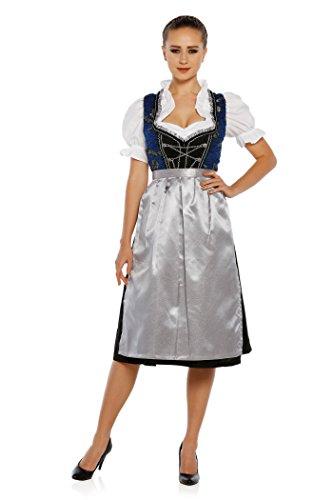 3tlg Dirndl Lukas 1195 Trachten Oktoberfest Kleid Bluse Schürze (38)