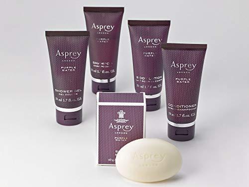 The Ritz-Carlton Asprey Purple Water Reiseset – mit Seife, Duschgel, Hand- und Bodylotion, Shampoo und Conditioner –belebender Duft mit Noten von Zitrusfrüchten und Gewürzen