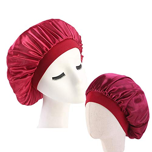 WATERMELON 2pcs / Set Family Pack Salon de beauté Cap de Haute qualité Super Jumbo Sommeil Cap Femmes Traitement des Cheveux protéger Les Cheveux des frisotter (Color : Red)
