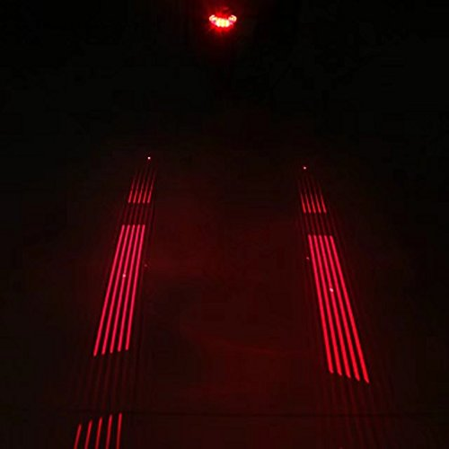 Cool Bicycle Taillight 5 LED Light Laser...