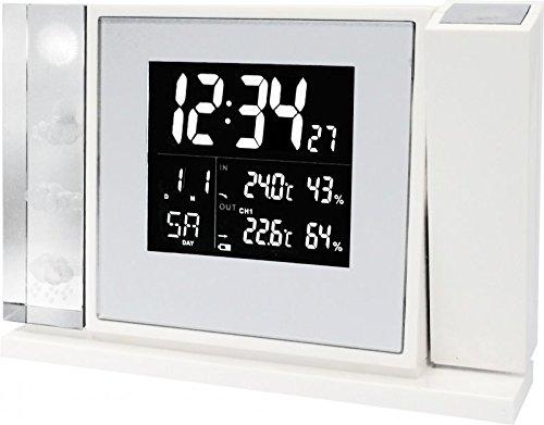 WT 643 Premium-Projektionswecker mit Vorhersage von Wettersituationen und Anzeige von Innen- und Außentemperatur