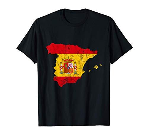 España Mapa Español Bandera España Vacaciones España Viaje Camiseta