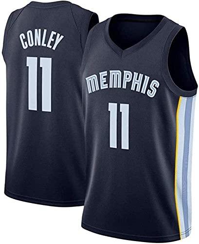 HZHEN NBA Basketball Jersey, Mike Conley 11# Memphis Grizzlies Jerseys Swingman Tejido Transpirable Cool Sleeves Tank Clothing,1,XXL (185~190CM/ 95~110KG)
