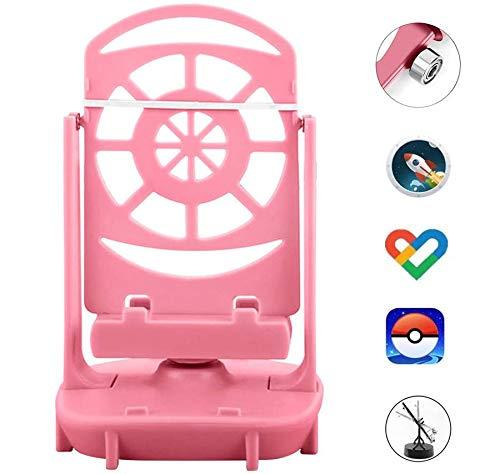 DAPENF Phone Swing Accessoires Geschikt voor Poke Ball Plus/Pokemon Go Mobiele telefoon stappenteller, [USB-kabel] [Eenvoudige installatie] [Mute Version] [Ondersteuning 2 telefoons],Pink