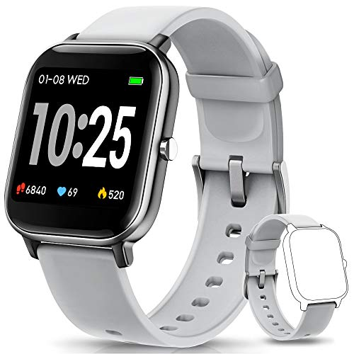 AIMIUVEI Smartwatch, Reloj Inteligente IP67 con Pulsómetro, Presión Arterial, 7 Modos de Deportes y GPS, Monitor de Sueño Caloría 1.4 Inch Pantalla Táctil Smartwatch para Mujer y Hombre