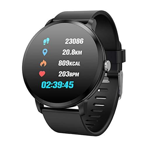 Wsaman Podómetro Pulsera Inteligente,Sueño Podómetro Monitor de Actividad, con Pulsómetro,para Hombre Mujer Niño,Bluetooth Pulsera Actividad Deportiva,Black 1