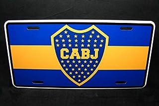 Yilooom Boca Juniors Football Club Metal Car License Plate Argentian Soccer Auto Car Novelty Accessories License Plate Art