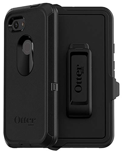 OtterBox Defender Series Case & Holster for Google Pixel 3A (NOT 3) Non-Retail Packaging - Black