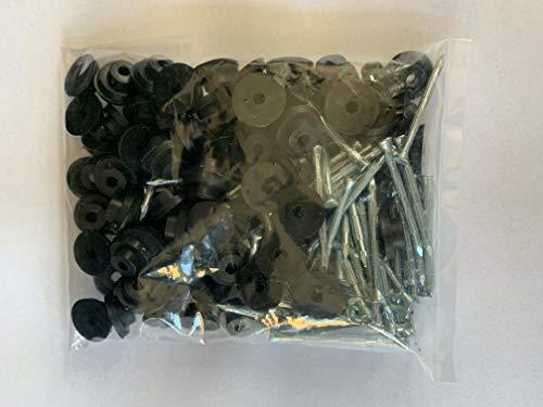 100 Stück BMD Dichtnägel für Noppenbahn Dichtnagel (40mm Länge) mit Dichtscheiben Dicht Nagel Noppenfolie Baudrainage