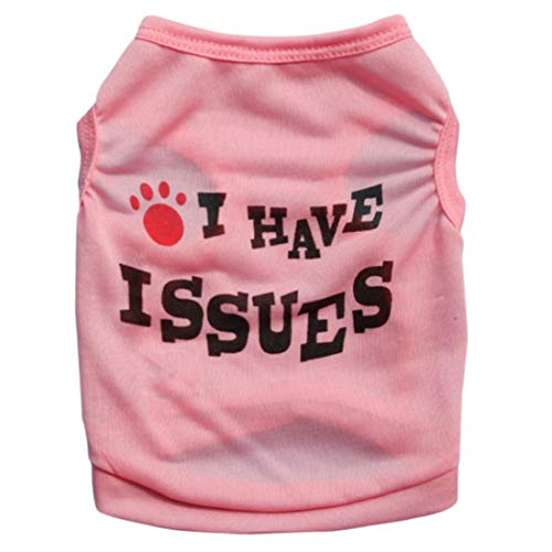 Pet Dog Vest Honden Shirt Cat Vest Leuke Patroon Mouwen Trui Vest Ademende Dunne Lichtgewicht Hondenshirt