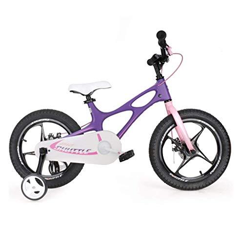 seveni Kinderfahrräder, Kinderfahrrad 14 Zoll Jungen- und Mädchenwagen 4-12 Jahre Alter Student Scooter Outdoor-Mountainbike Tragbares Fahrrad (Farbe: Lila, Größe: 16 Zoll)
