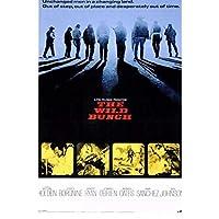 Rzhss ワイルドバンチ(1969)クラシック映画フィルムレトロヴィンテージポスターキャンバス絵画家の装飾ギフトキャンバスにプリント-60X90Cmフレームなし