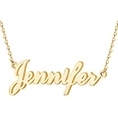 """Customized Name Necklace: Handwriting name plate necklace, custom made nameplate best gift for best friends, mom, sister, grandaughter, cousin, wife, girlfriends Necklace With Name: Clicking the """"Customize Now"""" button to get your Personalized Necklac..."""