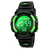 7-Color Kids Boys Digital Watches, Waterproof Outdoor Sports Digital Watches Analogue Watch