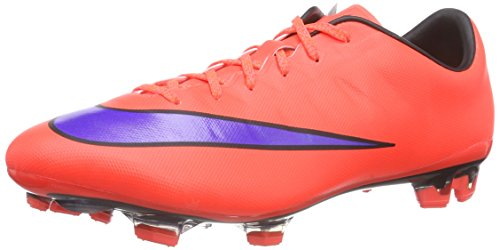 Nike Mercurial Veloce II FG Herren Fußballschuhe, Mehrfarbig (Bright Crimson/Persian Violet-Black), 44.5