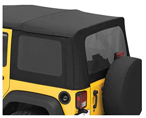 Bestop 5813535 Black Diamond Tinted Window Kits Replace-A-Top Soft Tops for 2011-2018 Wrangler JK Unlimited