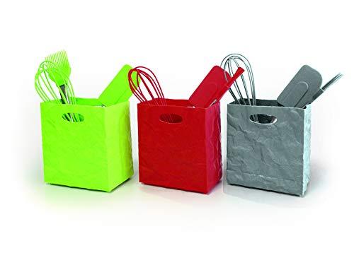 Surplus Knitterbox-Mini mit Backhelfern 3tlg./PET (Schneebesen, Pinsel, Teigschaber) (grau)