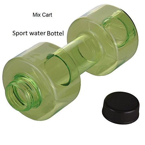 Mix Cart Dumbbell Shape Gallon Water Bottle,Sports Fitness Exercise Water Jug for Gym, Yoga, Running, Outdoors, Cycling, and Camping